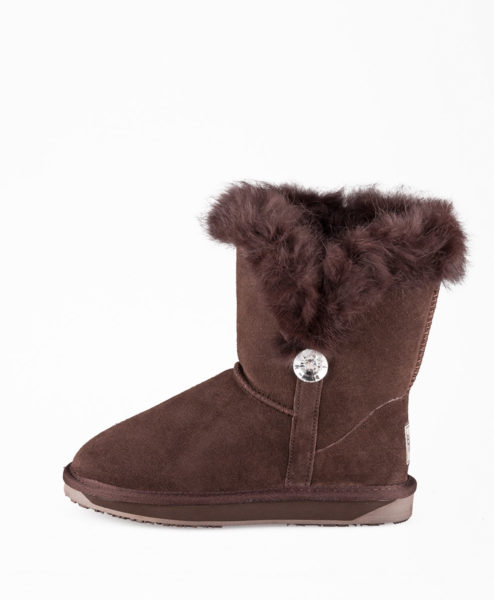 BOOROO Women Ankle Boots 1250W JEWEL, Chocolate 99,99