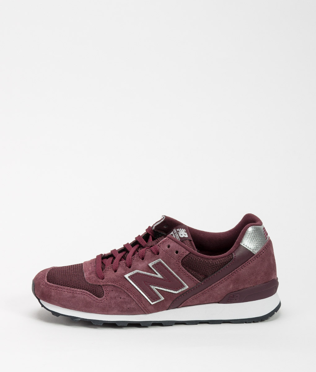 new balance womens burgundy trainers