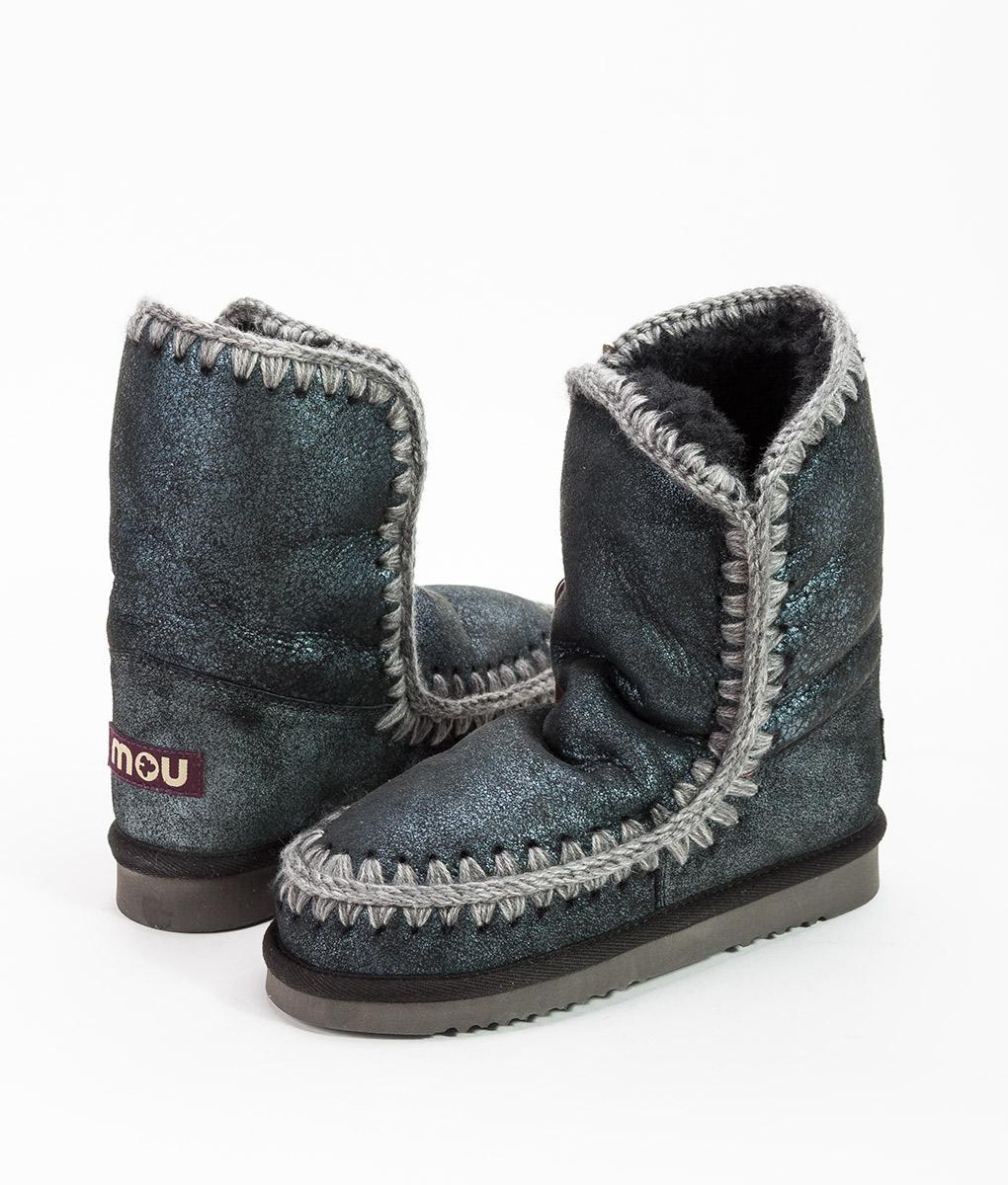 MOU Women Ankle Boots ESKIMO BOOT 24, Microglitter Blue 219.99 1