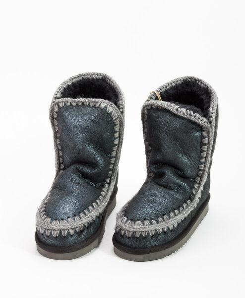MOU Women Ankle Boots ESKIMO BOOT 24, Microglitter Blue 219.99
