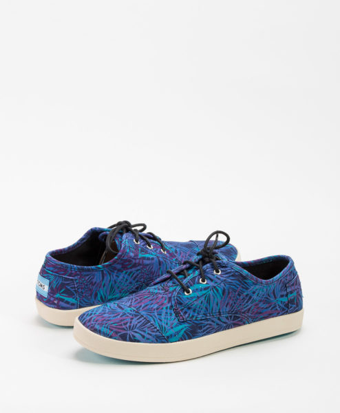 TOMS Women Sneakers PASEO Canvas Palms, Blue 65.99 1