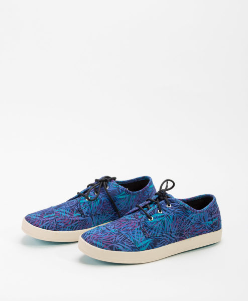TOMS Women Sneakers PASEO Canvas Palms, Blue 65.99