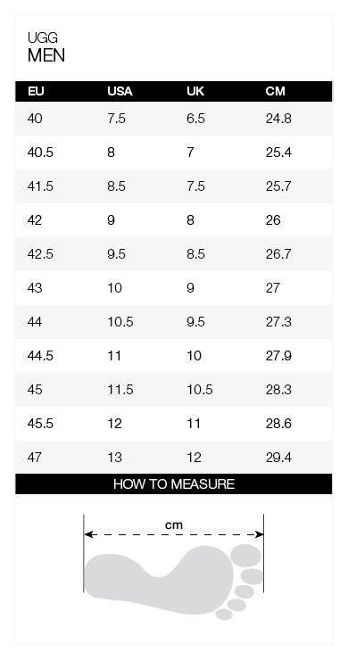 Size-chart-UGG-men