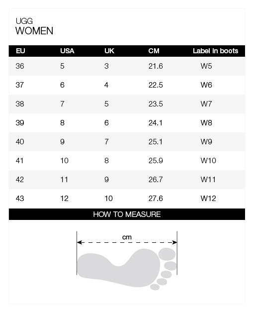 Size-chart-UGG-women
