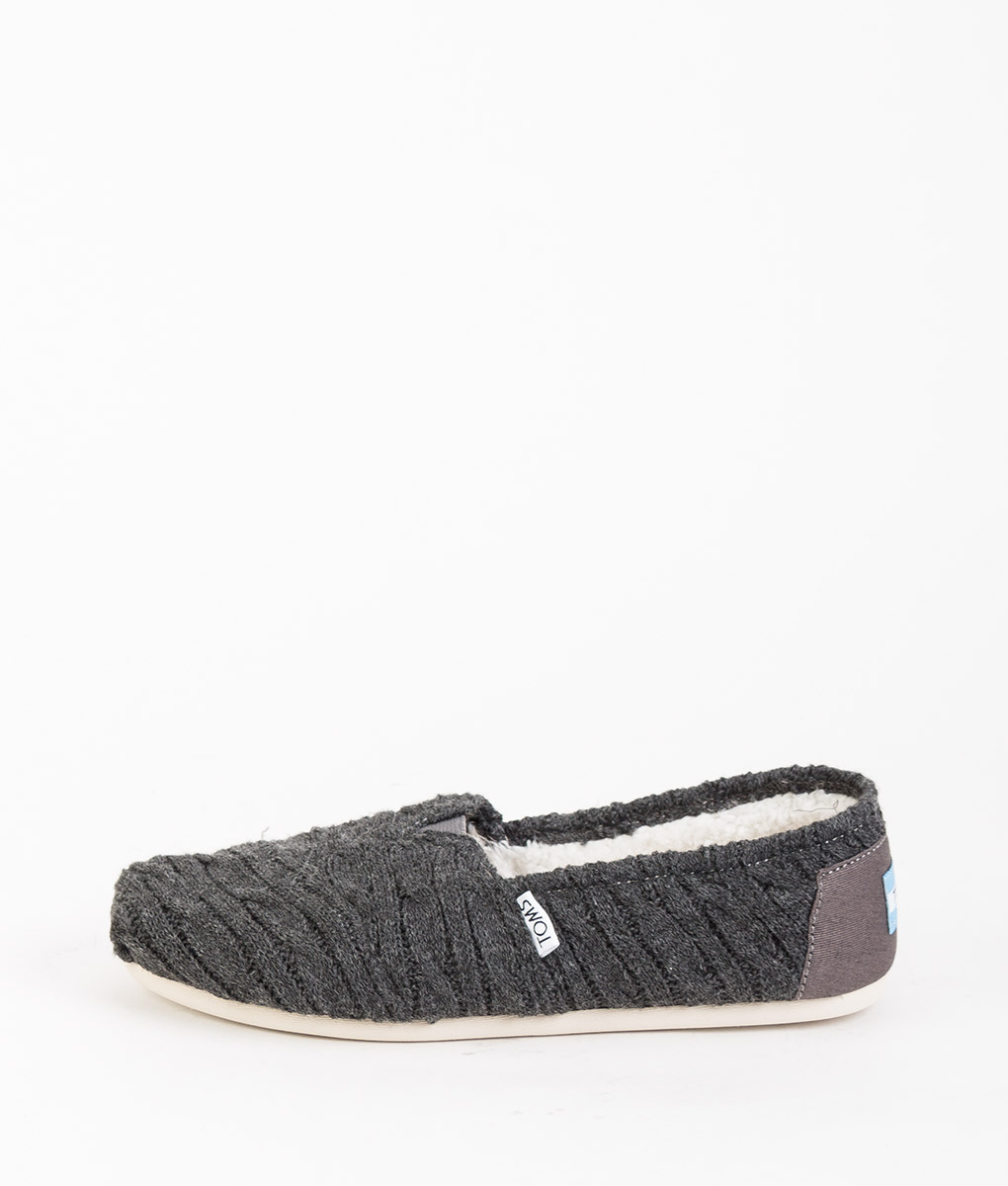 TOMS Women Espadrillas 8929 CLASSIC CABLE KNIT, Forged Iron Gray 59.99