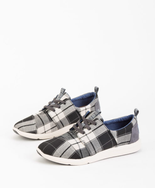 TOMS Women Sneakers 8890 DEL RAY, Black White 89.99