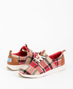 TOMS Women Sneakers 8895 DEL RAY, Red Warm Tan 89.99 1