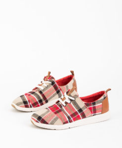 TOMS Women Sneakers 8895 DEL RAY, Red Warm Tan 89.99