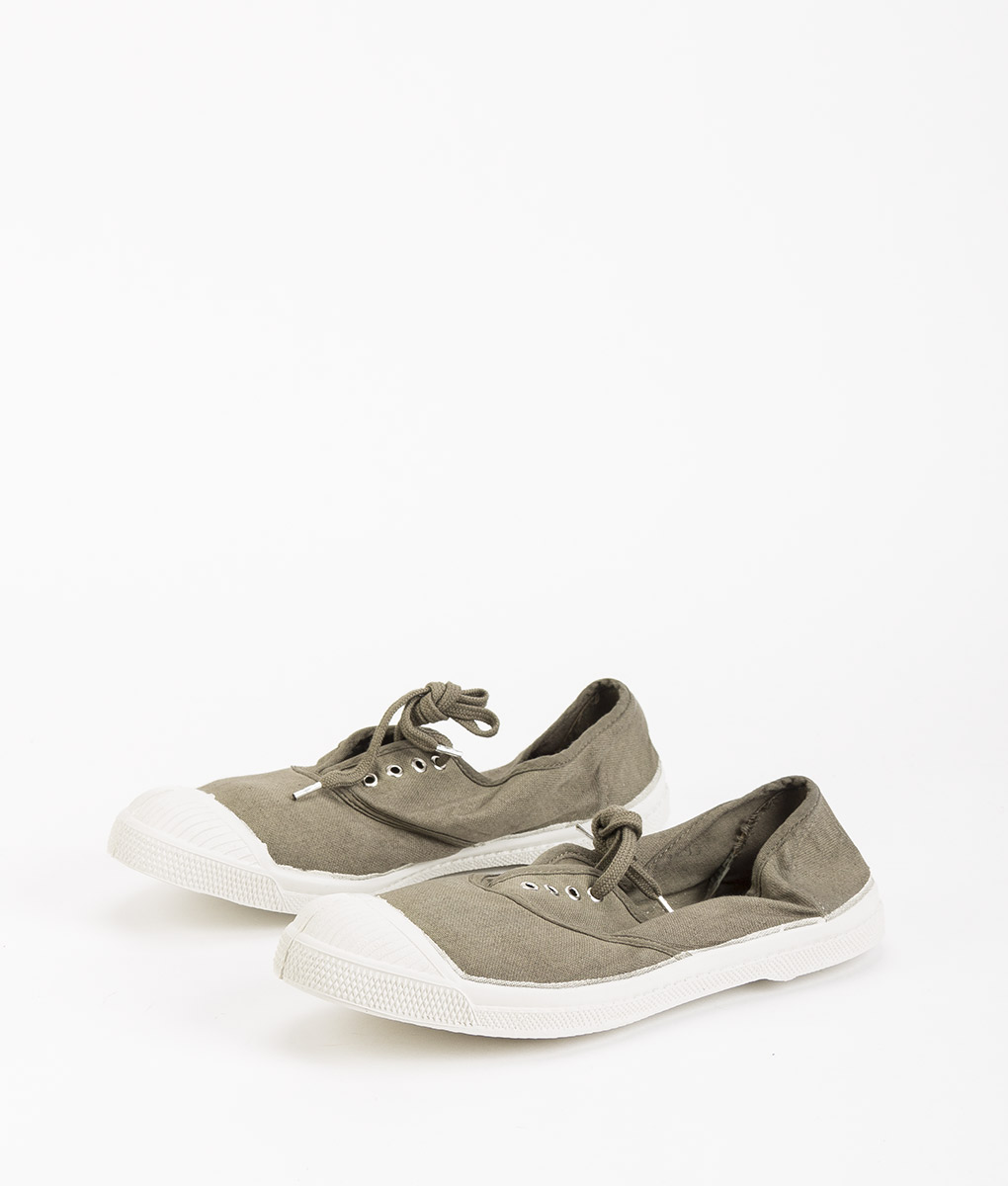 BENSIMON Women Sneakers 15004 TENNIS LACE, Light Khaki 34.99