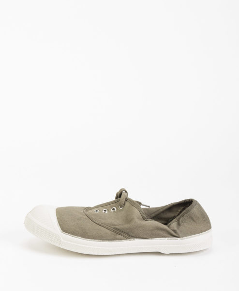 BENSIMON Women Sneakers 15004 TENNIS LACE, Light Khaki 34.99