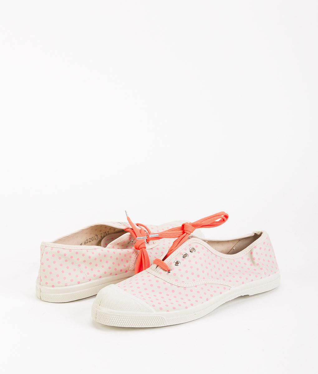 BENSIMON Women Sneakers 15004 TENNIS LACE MINIDOTS, Pink 39.99 1