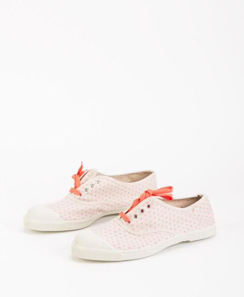 BENSIMON Women Sneakers 15004 TENNIS LACE MINIDOTS, Pink 39.99