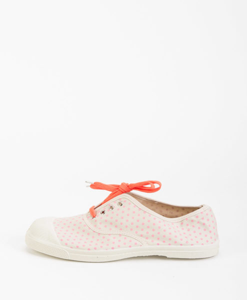BENSIMON Women Sneakers 15004 TENNIS LACE MINIDOTS, Pink 39.99