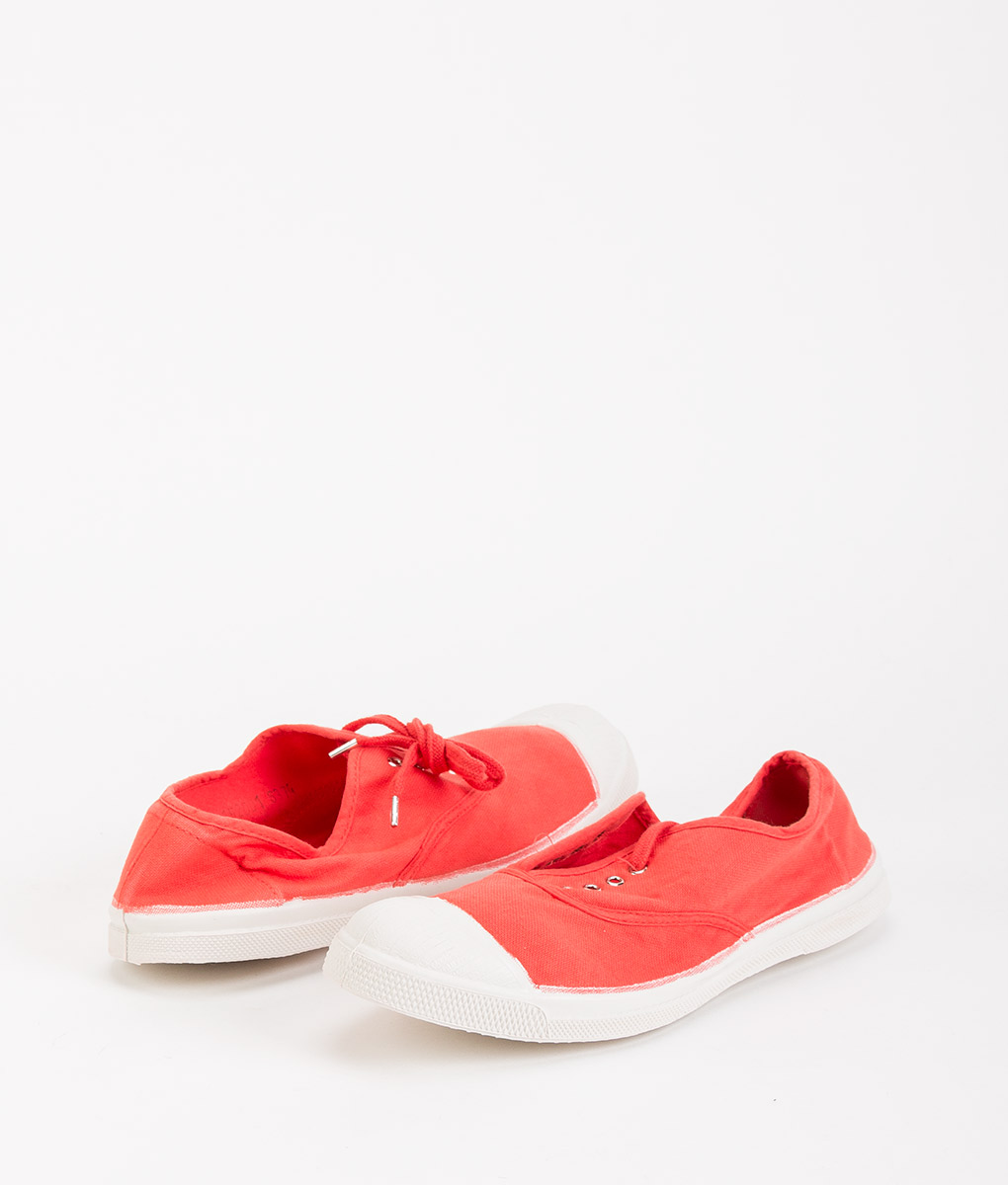 BENSIMON Women Sneakers 15004 TENNIS LACE, Poppy 34.99 1