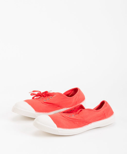 BENSIMON Women Sneakers 15004 TENNIS LACE, Poppy 34.99