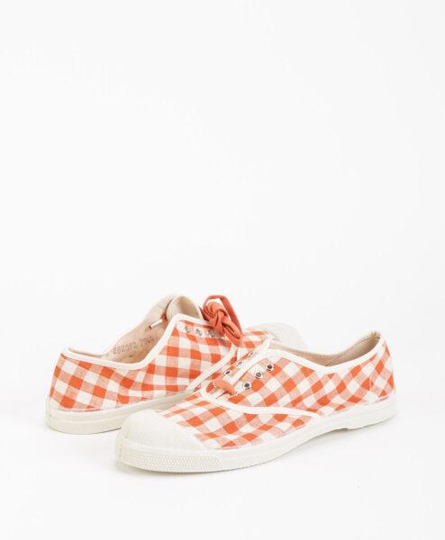 BENSIMON Women Sneakers 15004 TENNIS LACE Vichy, Coral 39.99 1