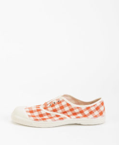 BENSIMON Women Sneakers 15004 TENNIS LACE Vichy, Coral 39.99
