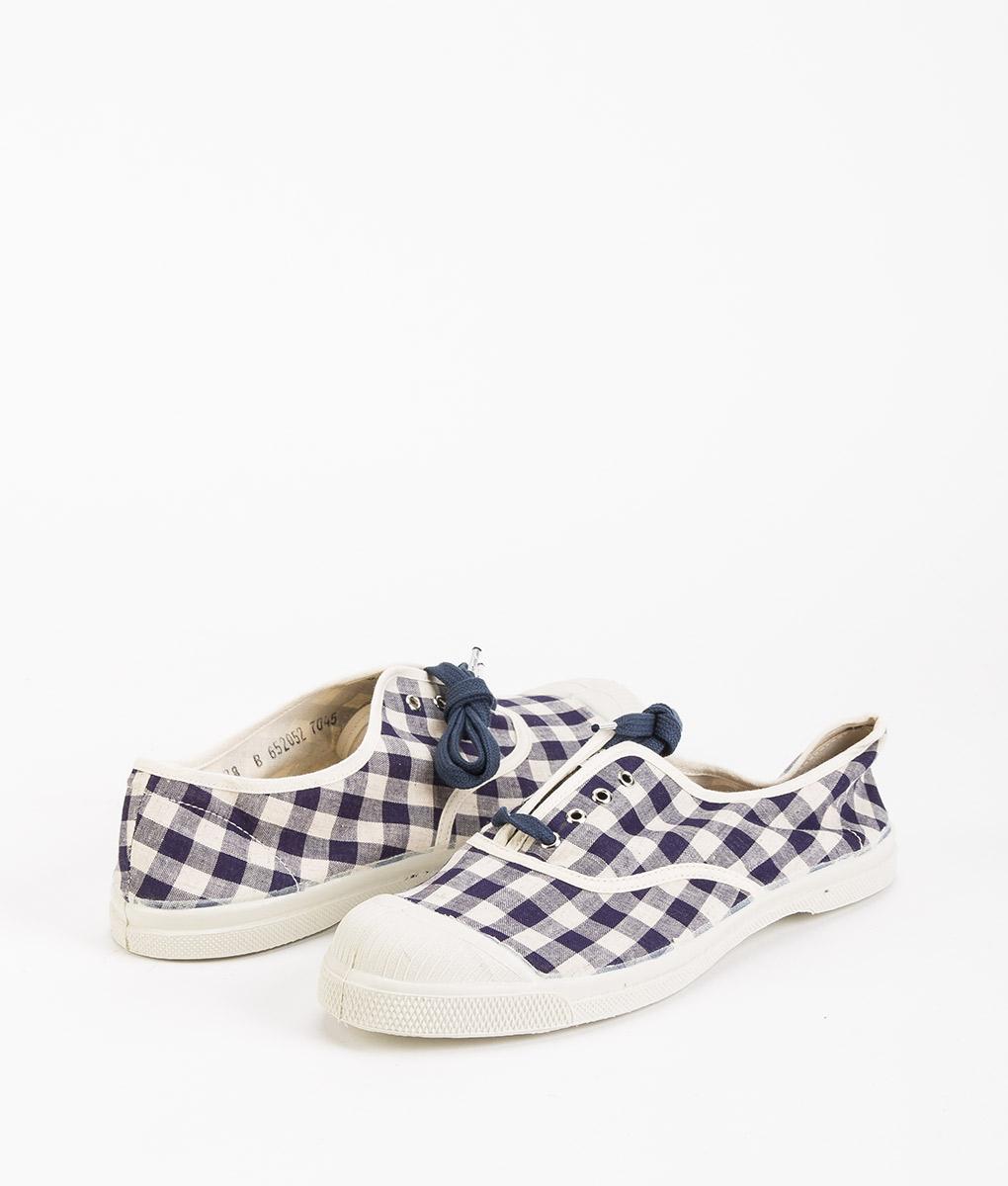 BENSIMON Women Sneakers 15004 TENNIS LACE Vichy, Navy 39.99 1