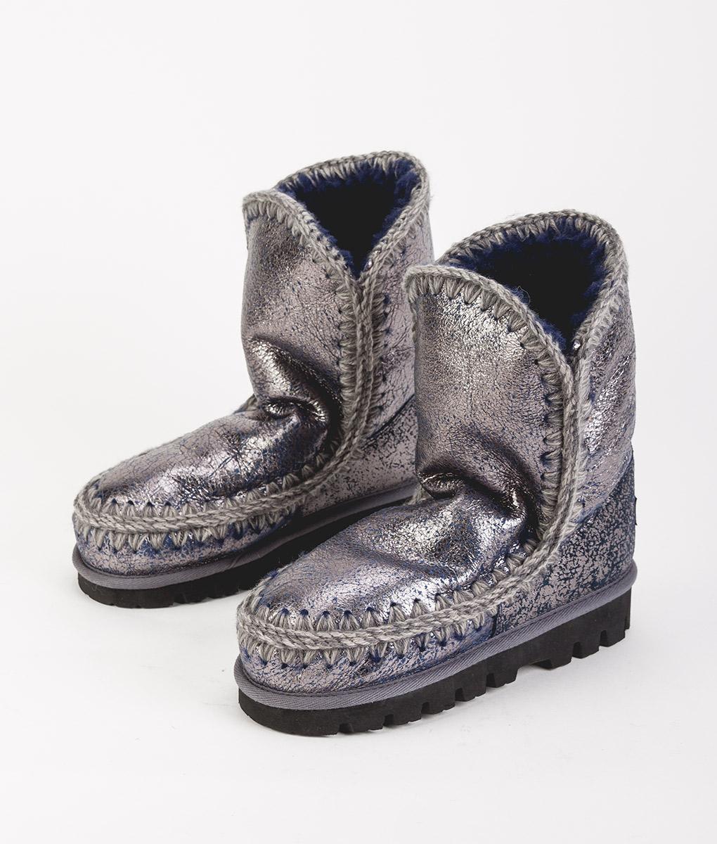 MOU Women Ankle Boots ESKIMO BOOT 24 MOUNTIN OUTSOLE, Silver Navy 269.99