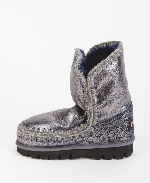 MOU Women Ankle Boots ESKIMO BOOT 24 MOUNTIN OUTSOLE, Silver Navy 269.99