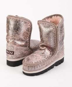 MOU Women Ankle Boots ESKIMO BOOT 24 MOUNTIN OUTSOLE, Silver Pink 269.99