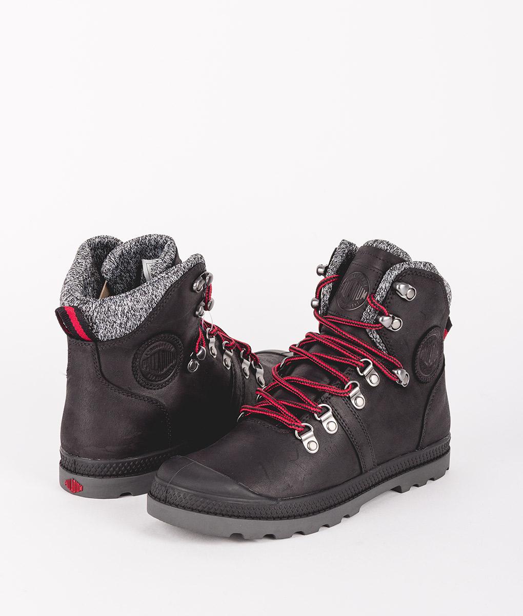 springa skor försäljning återförsäljare ser bra ut försäljning PALLADIUM Women Ankle Boots 95140 PALLABROUSE HIKR LP,Black Red ...