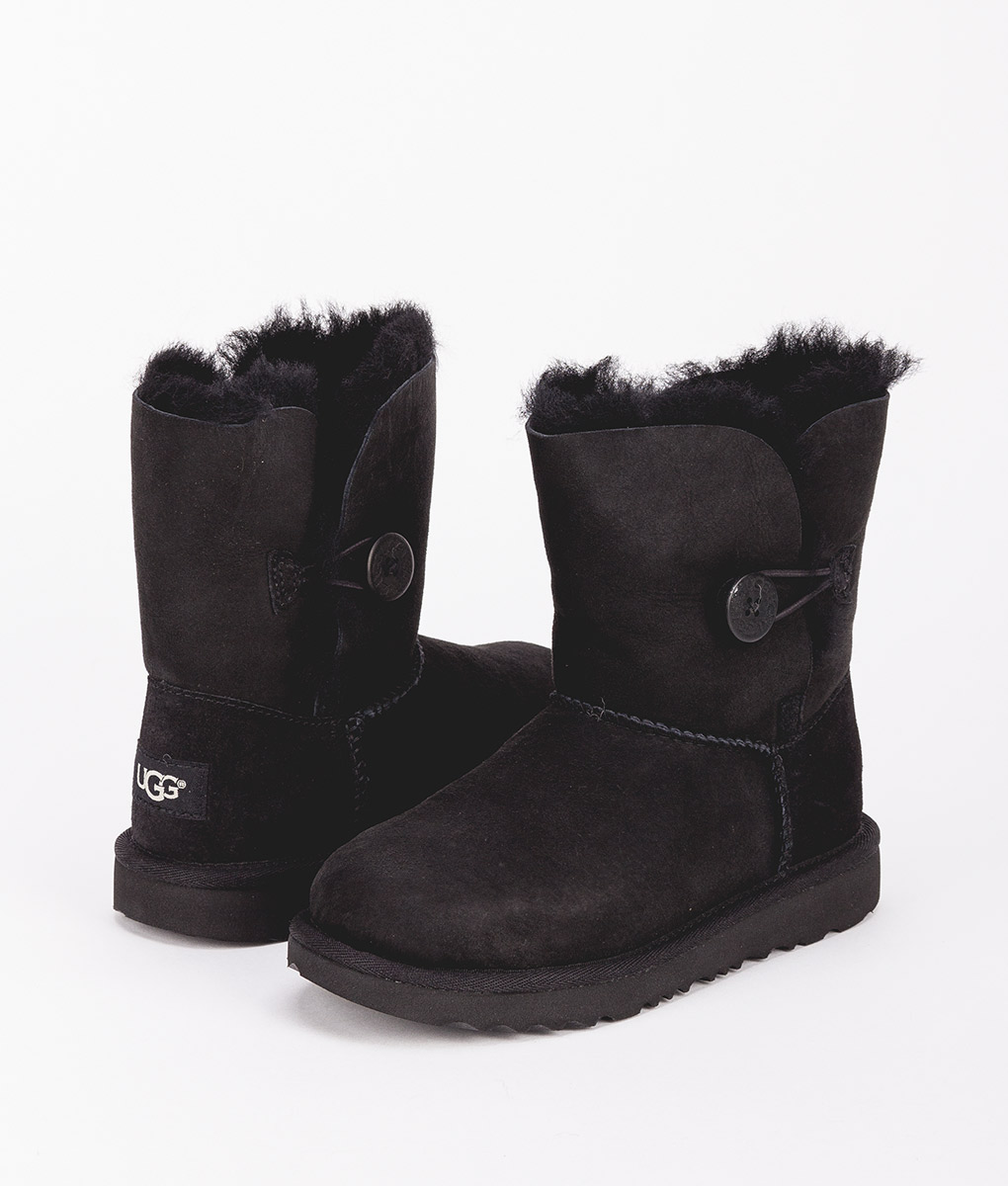 UGG Kids Ankle Boots 1017400K BAILEY BUTTON II, Black 1