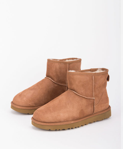 UGG Women Ankle Boots 1016222 CLASSIC MINI II, Chestnut