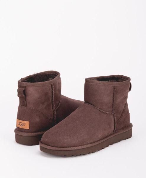 UGG Women Ankle Boots 1016222 CLASSIC MINI II, Chocolate 1