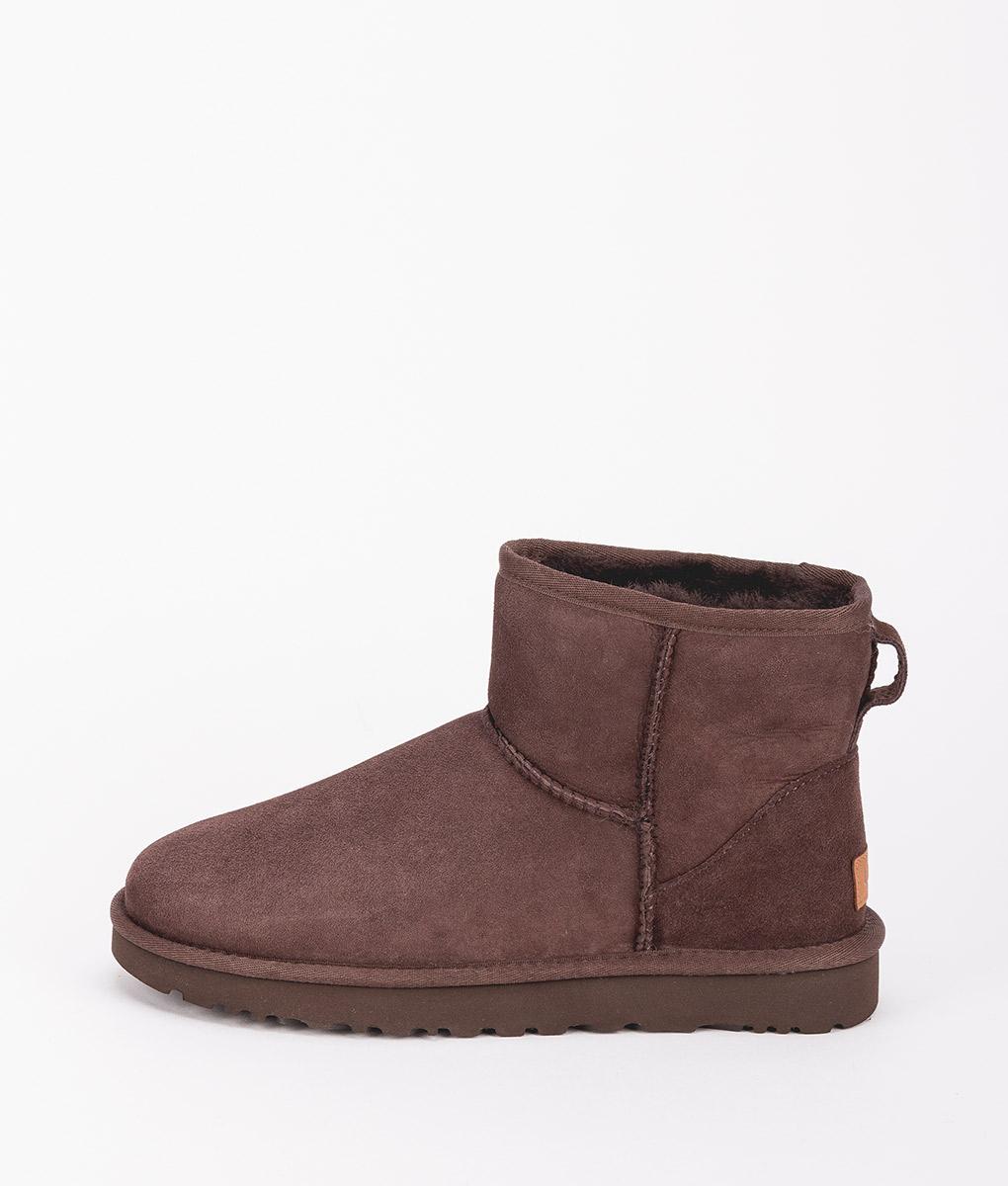 UGG Women Ankle Boots 1016222 CLASSIC MINI II, Chocolate