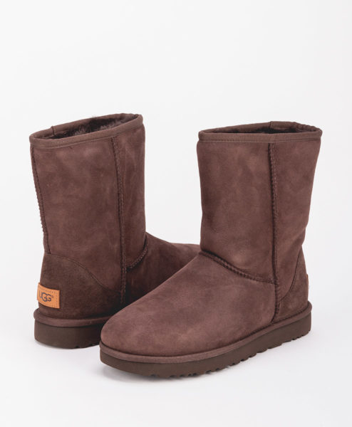 UGG Women Ankle Boots 1016223 CLASSIC SHORT II, Chocolate 1