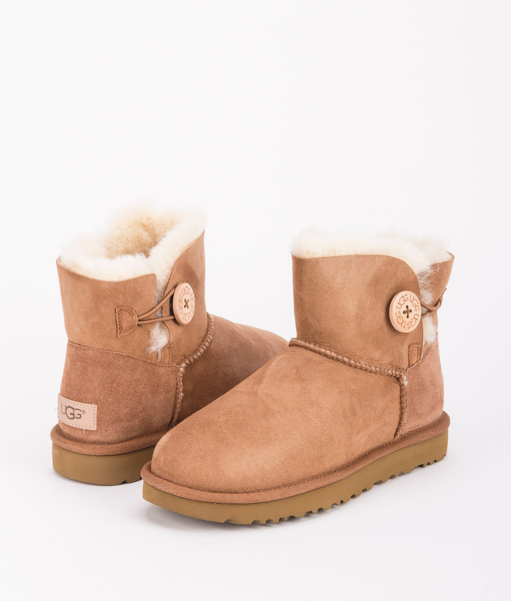 UGG Women Ankle Boots 1016422 MINI BAILEY BUTTON II, Chestnut 1
