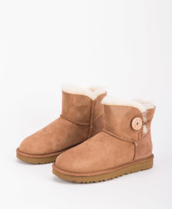 UGG Women Ankle Boots 1016422 MINI BAILEY BUTTON II, Chestnut