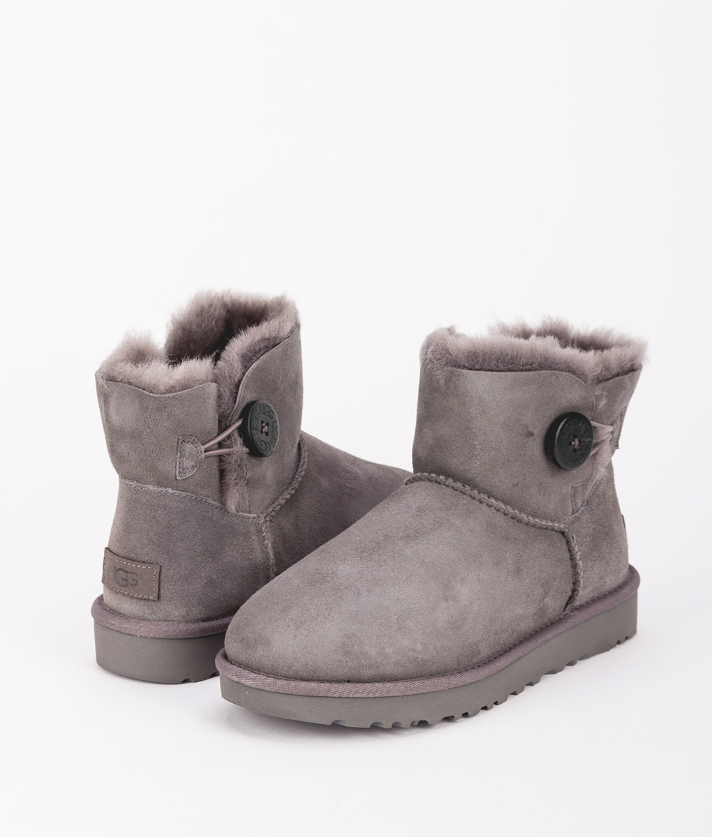 UGG Women Ankle Boots 1016422 MINI BAILEY BUTTON II, Grey 1