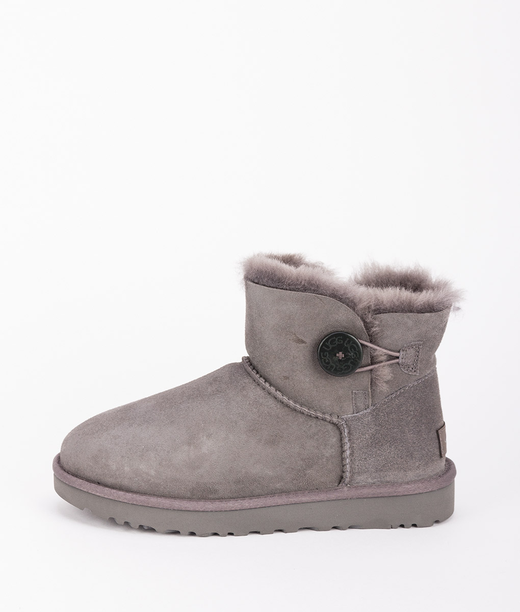 UGG Women Ankle Boots 1016422 MINI BAILEY BUTTON II, Grey