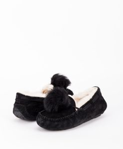 b8635eabbe0 UGG Women Slippers 1019015 DAKOTA POM POM, Black