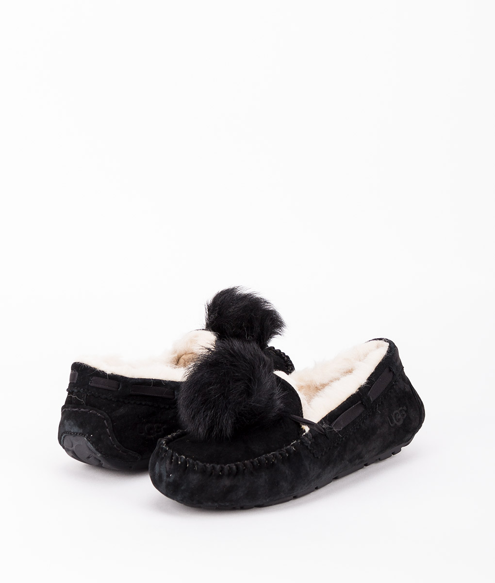 UGG Women Slippers 1019015 DAKOTA POM POM, Black 169.99 1