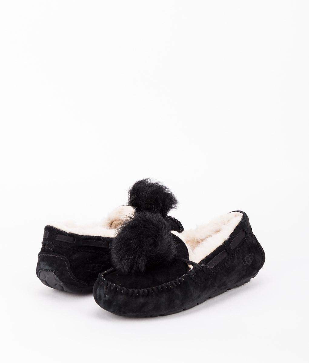UGG Women Slippers 1019015 DAKOTA POM POM, Black 169.99 1