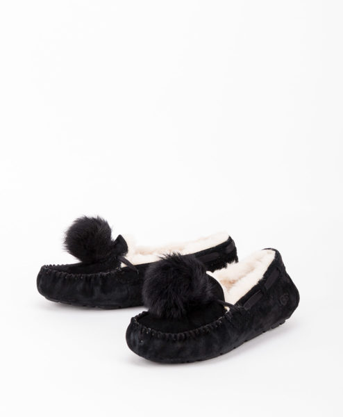 UGG Women Slippers 1019015 DAKOTA POM POM, Black 169.99 2