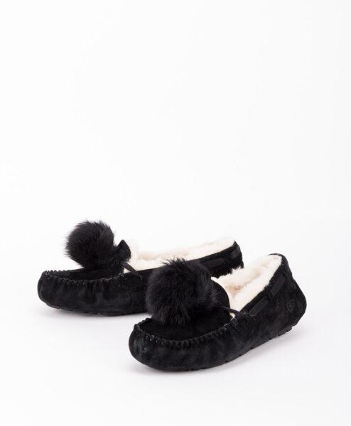 UGG Women Slippers 1019015 DAKOTA POM POM, Black 169.99 2
