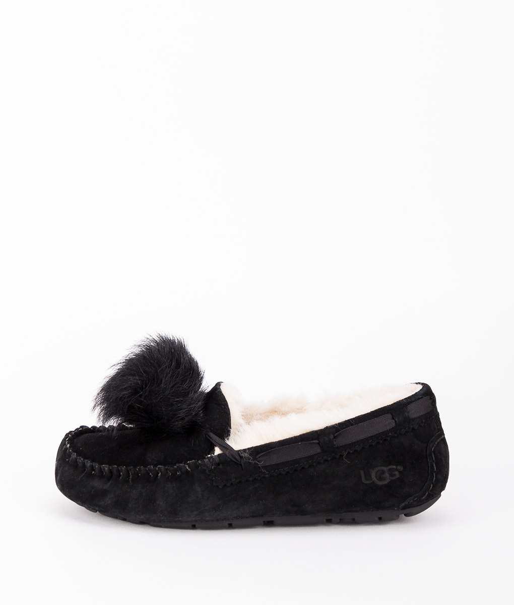 48744150ef1 UGG Women Slippers 1019015 DAKOTA POM POM, Black