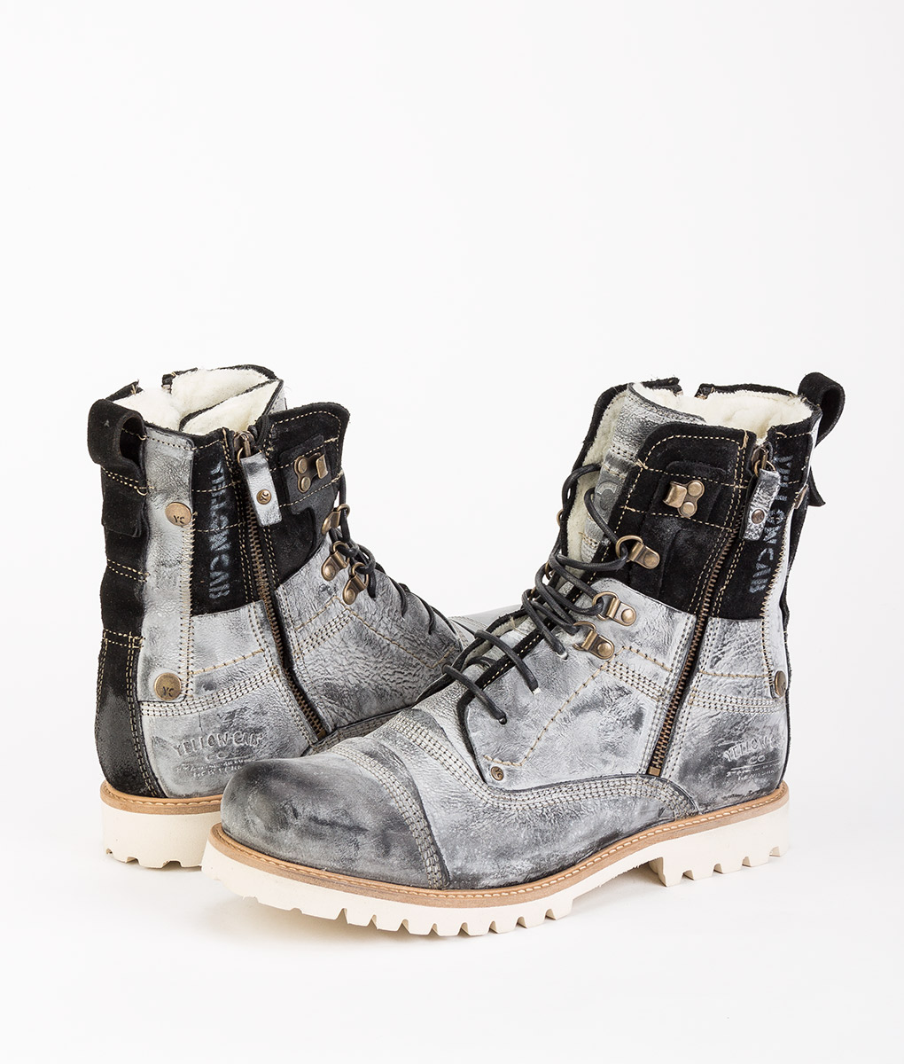 online retailer f1d37 eadba YELLOW CAB Men Ankle Boots Y18035 SOLDIER EVA, Black 169.99 ...