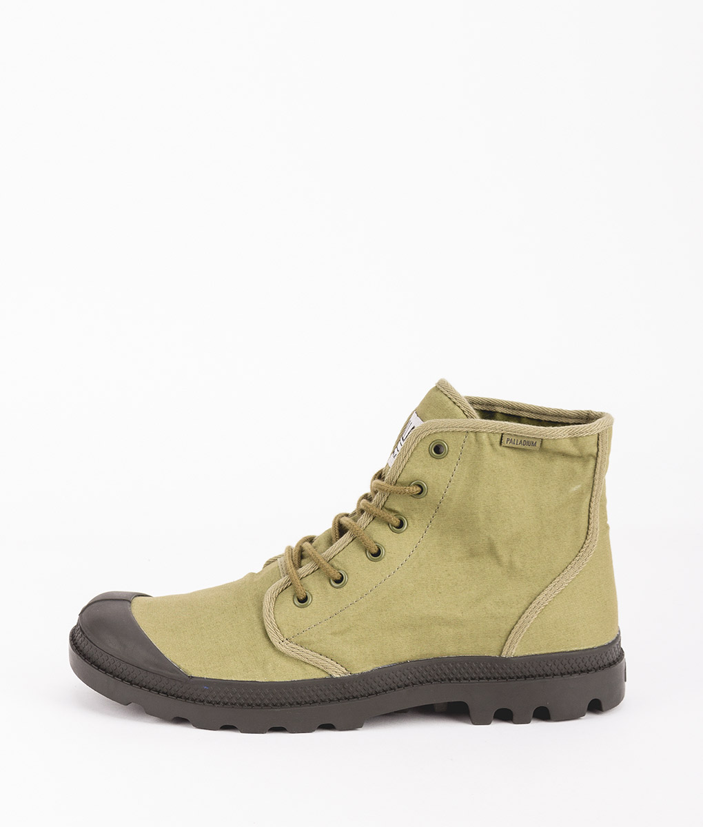 PALLADIUM Men Sneakers 75554 PAMPA HI ORIGINALE TC, Olive Beluga 84.99
