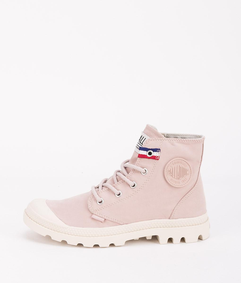 PALLADIUM Women Sneakers 75753 PAMPA HI RIVE, Rose Dust French Tape 79.99