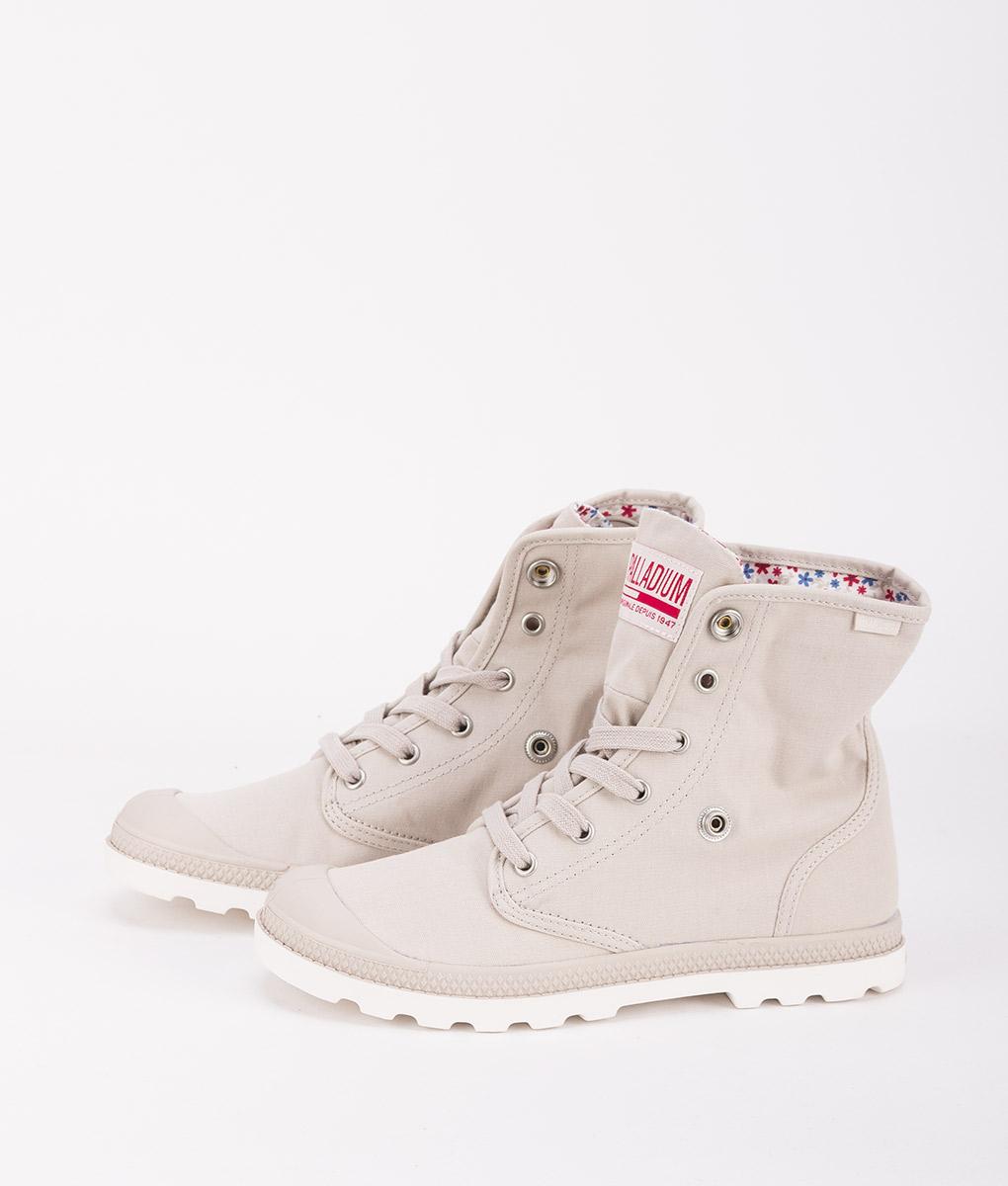 PALLADIUM Women Sneakers 93314 BAGGY LOW LP, Rainy Day Marsmallow 74.99.CR2