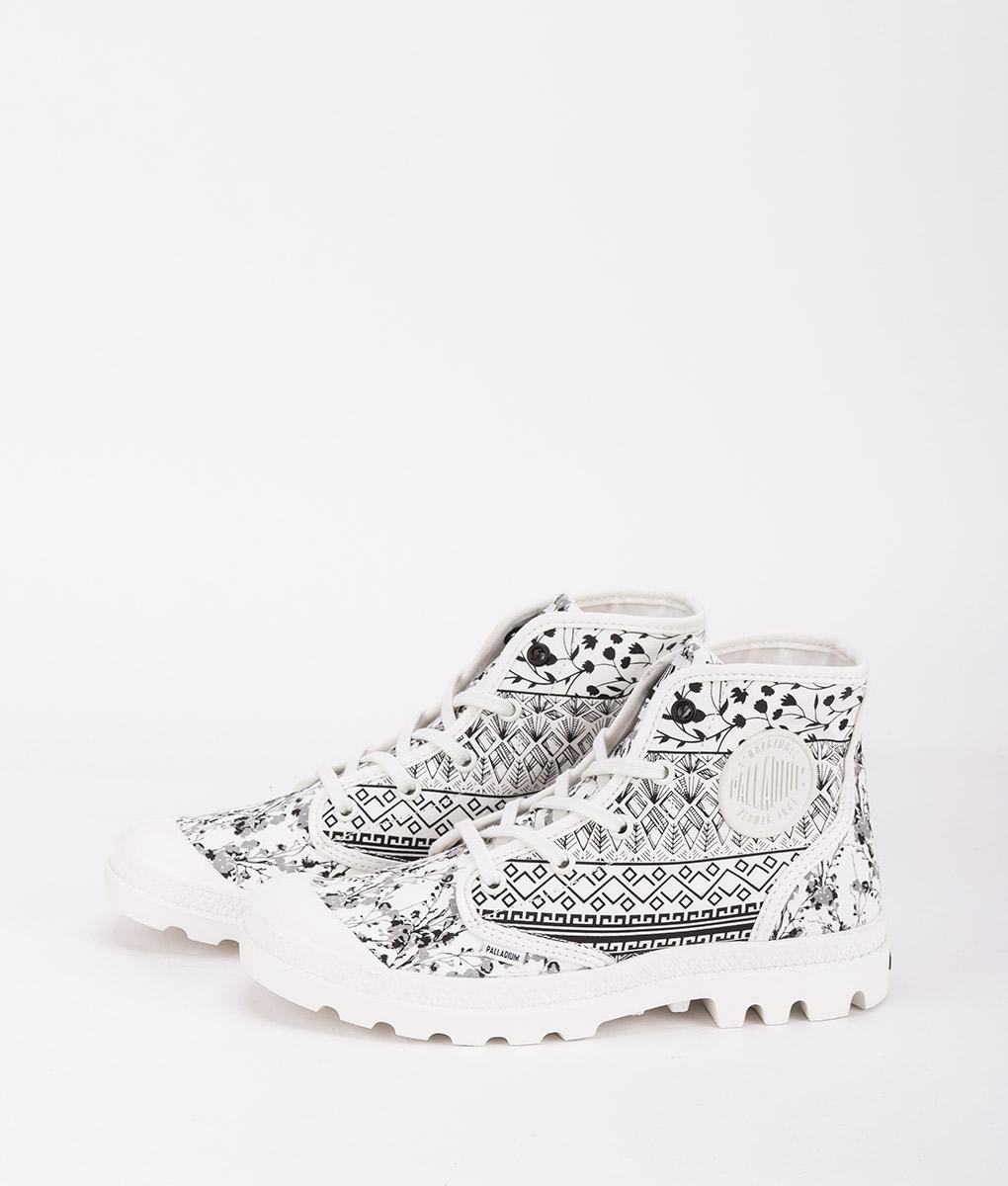 PALLADIUM Women Sneakers 95752 PAMPA HI P, Ethnic Black Starwhite 79.99