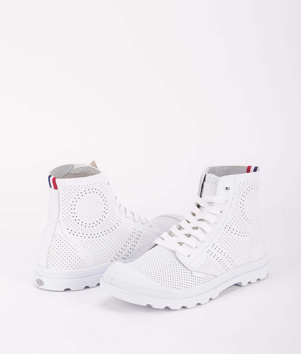PALLADIUM Women Sneakers 95756 PAMPA MID LP, White 99.99