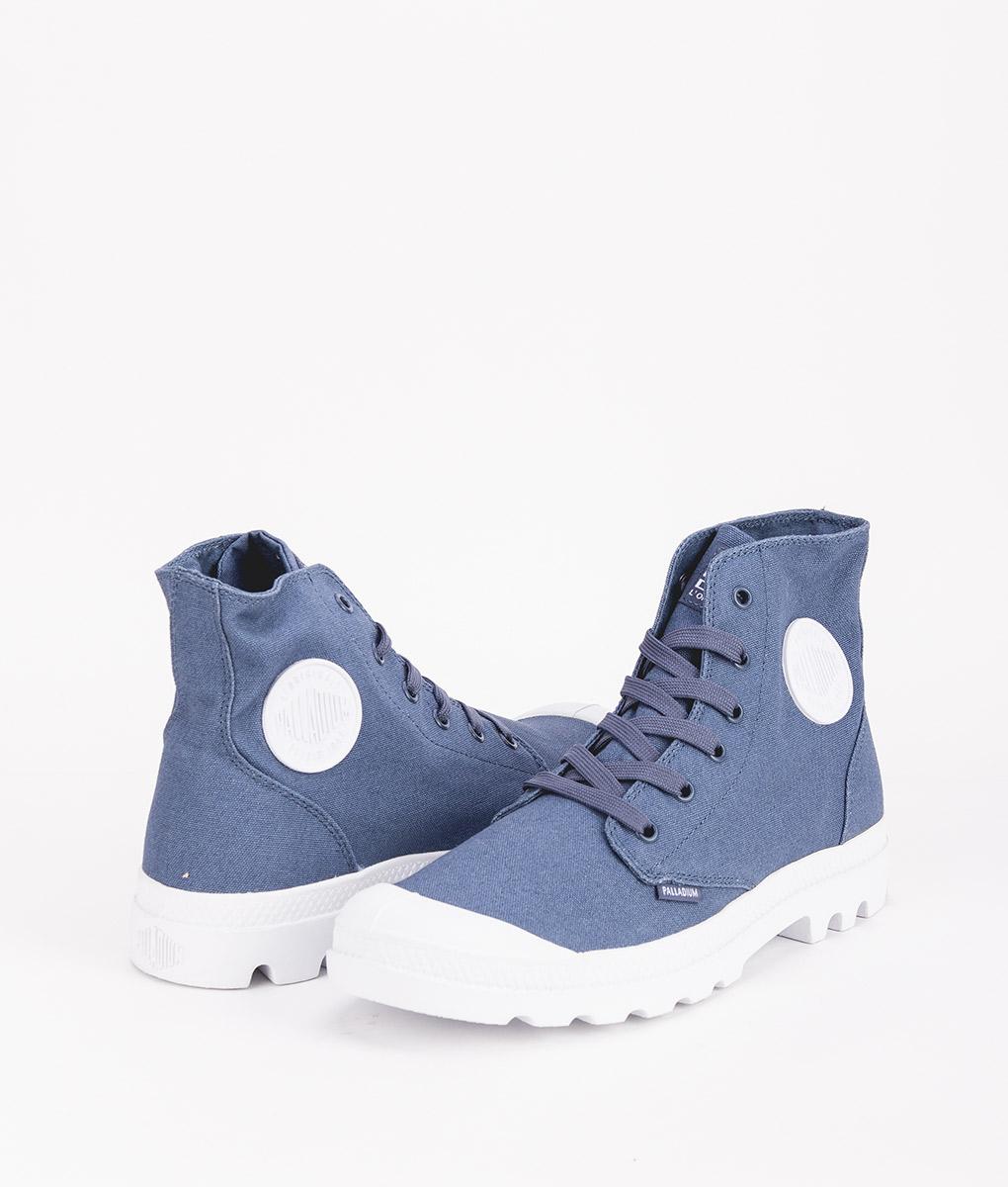 PALLADIUM Men Sneakers 72886 BLANC HI, Vintage Indigo 69.99