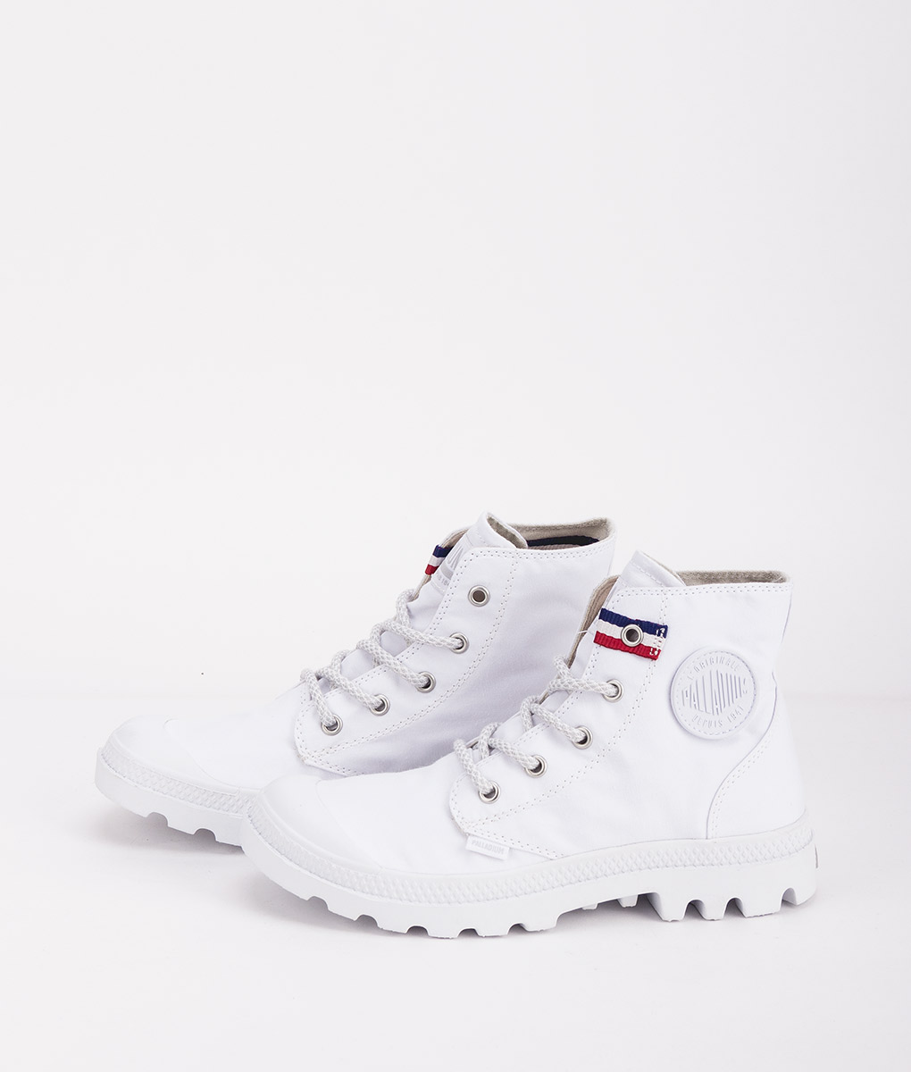 PALLADIUM Unisex Sneakers 75753 PAMPA HI RIVE, White French Tape 79.99