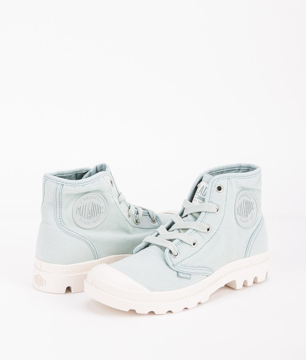 PALLADIUM Women Sneakers 92352 PAMPA HI, Gray Mist Marshmallow 74.99
